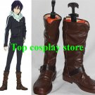 Noragami Yato Cosplay Boots shoes brown Version C #NOR003 pu ver shoe boot