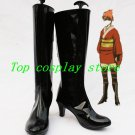 Gintama Silver Soul/Gin Tama Kagura Cosplay Show Boots shoes black Ver #DTSS03