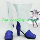 Vocaloid Miku Snow Miku Blue & White Cosplay Boots shoes #VOC009 shoe boot