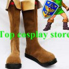 The Legend of Zelda Link Brown Cosplay Boots shoes shoes boot ver 2 #LZ02