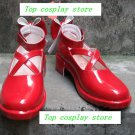 Puella Magi Madoka Magica Kaname Madoka red bow in back Cosplay Boots Shoes shoe