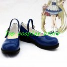 Chobits Chii / Eruda PU Leather Cosplay Shoes blue #CC01 shoe boots boot