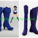 Sailor Moon Sailor Mercury Mizuno Ami Cosplay Shoes Boots shoe boot #BV01