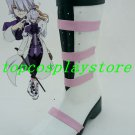 Fate Unlimited Codes Fate/Unlimited Codes Lancer Black Silver Cosplay Boots shoes #FATE01