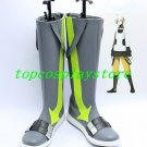 Kagerou Project Konoha Haruka Kokonose Grey yellow white Cosplay Boots Shoes #KP004