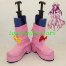 Touhou Project Patchouli Knowledge Pink Cosplay Boots shoes de22