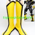 x-men Logan Wolverine cosplay Shoes Boots hand made Custom made yellow #15YJZ12
