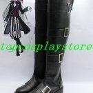 Black Butler Sebastian UnderTaker Cosplay Boots shoes flat ver #15YJZ93