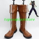 Final Fantasy VII Cosplay Cloud Strife Brown Boots shoes #FFC051