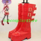One Piece Perona Cosplay Shoes Boots Custom made red Version E #OP015