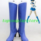 Sailor Moon Sailor Mercury blue high heel ver 3 Cosplay Boots shoes shoe boot