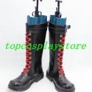 Dungeon Fighter Online Mage PU Leather Cosplay Shoes boots #DO08