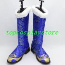 Love Live! No brand girls Sonoda Umi Cosplay Boots shoes black/blue #LLC06