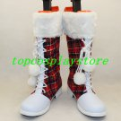 Love Live! Cosplay Boots for Christmas shoes woman women female Christmas shoes boots de3