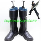 Final Fantasy VII Cosplay Shoes Zacks's Zack Fair Black Boots shoes #GAI051