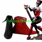Batman Harley Quinn one black one red high heel ver cos Cosplay Shoes Boots shoe boot #JZ599