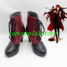 Black Butler Grell Sutcliff Cosplay Shoes Boots black and red de3