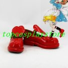 CARDCAPTOR SAKURA KINOMOTO SAKURA red cute lolita hand made shoe Cosplay Boots shoes red #cos0197