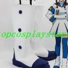 Angelic Layer Misaki Suzuhara Cosplay Shoes Boots White with blue sole Custom-Made #AO001