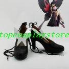 Accel World Kuroyukihime Black Snow Princess cosplay Shoes Boots high heel #AO006