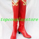 Phoenix Wright: Ace Attorney Regina Berry Cosplay Shoes Boots Red Ver #AO008