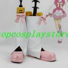 AKB0048 Nagisa Motomiya cosplay Shoes Boots white & pink short ver #AKB005