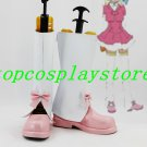 AKB0048 Makoto Yokomizo cosplay Shoes Boots white&pink short ver #AKB006