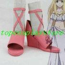 Aldnoah Zero Asseylum Vers Allusia Pink Cosplay Shoes boots pink ver #AZ001