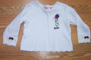 BARBIE WHITE SHIRT-2T