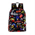 Rock Band Backpack The Beatles ACDC Iron Maiden Metallica Boys Girls School Bag Free Shipping
