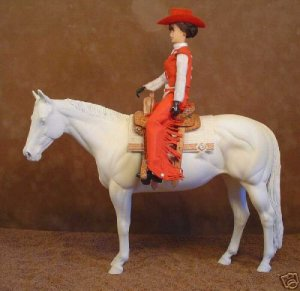 Breyer LSQ Western Performance Show Doll dressed in Red