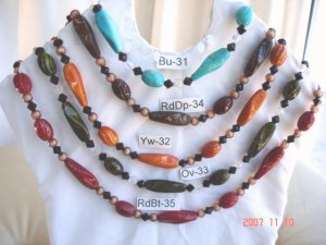 Beautiful necklaces with different colors and color combinations