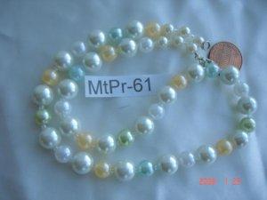 Beautiful pearl, jade, agate, onyx look necklaces