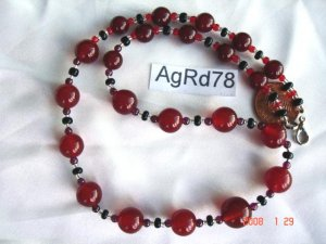 Genuine agate, jasper or other semi-precious stone necklaces