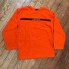 Polo Jeans Co. Ralph Lauren Mens XL Spellout RL Flag Logo Orange V-Neck Sweater