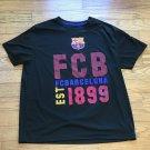 FCB FCBARCELONA EST 1899 Official Merchandise Shield Logo Mens XL Black T-Shirt