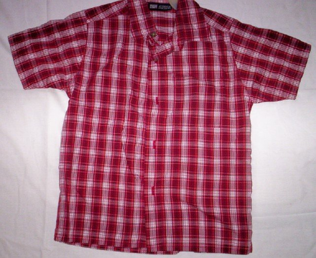 Boy's Red Button Front Shirt by Faded Glory