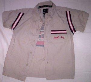 Boy's Button Front Shirt, Khaki by Bugle Boy
