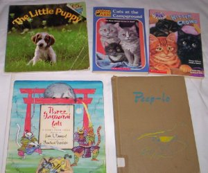 Books - Set of 5, Puppies, Kittens, Birds