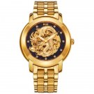 Diamond Scale Chinese Dragon Pattern Watch for Men - Black And Rose Gold