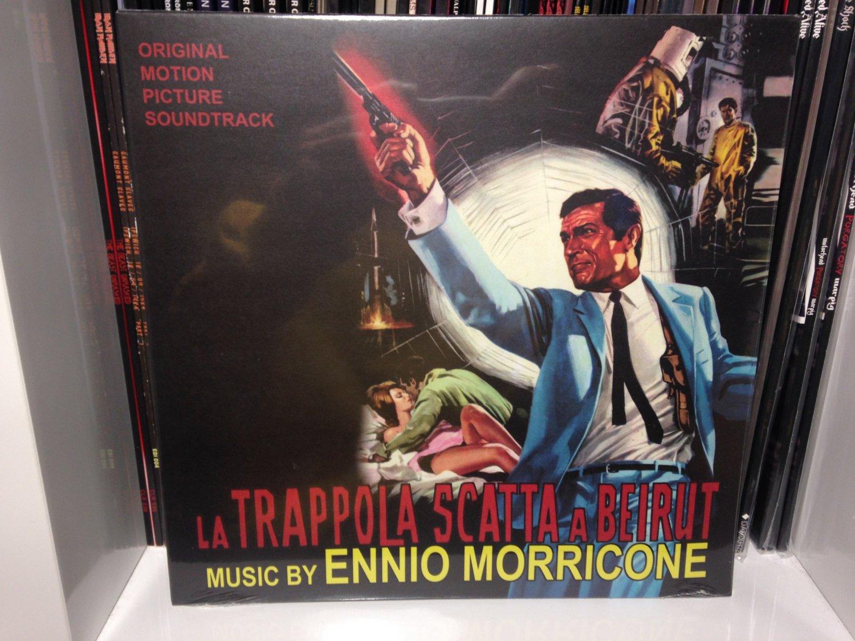 """ENNIO MORRICONE 10"""" la trappola scatta a beirut soundtrack"""