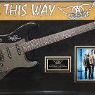 Aerosmith Signed Guitar Walk This Way Custom Framed