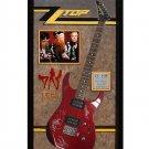 ZZ Top Signed Guitar Legs Custom Framed