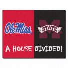Mississippi - Mississippi State NCAA House Divided Rugs 33.75x42.5