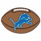 Detroit Lions Football Rug 20.5x32.5