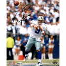 Tony Romo Home Passing Vs Giants 8x10 Photo (UDA Auth)