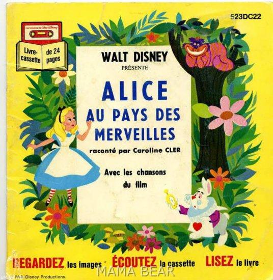 Le Petit Chaperon Rouge, Alice,Livre da la Jungle, Lot of 3 Walt Disney Children's Books *FRENCH*