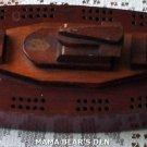 Solid Wood Ship Cribbage Board