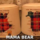 New Brunswick Tartan Salt & Pepper Shakers Lord Nelson Pottery