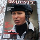 Princess Anne Rides Out Majesty Magazine Volume 8 No 1 May 1987 The Monthly Royal Review